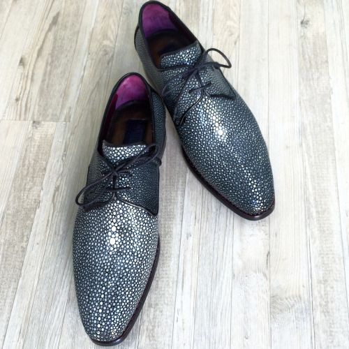 chicerman.com  paulparkman:  Paul Parkman Exotic Stingray Upper Derby Shoes For Men #paulparkman #luxury #mensshoes #mensfashion #menstyle #stingray #exotic www.paulparkman.com  #menshoes