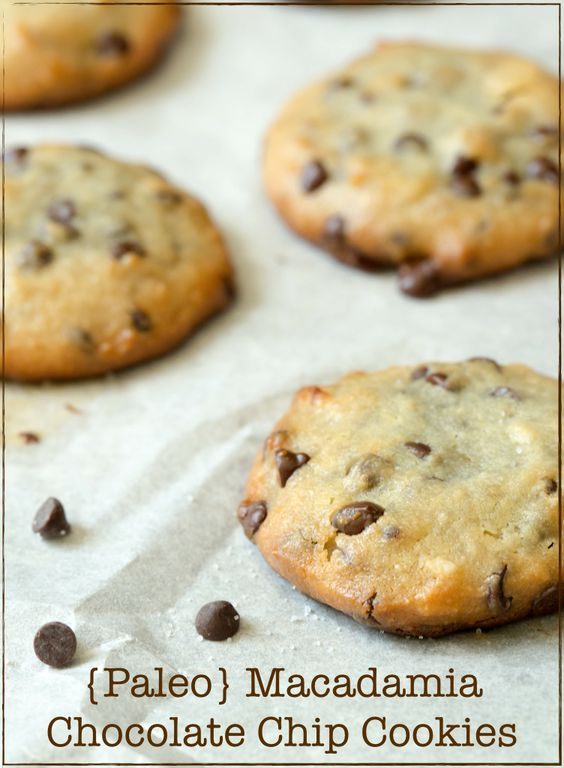 Paleo Macadamia Chocolate Chip Cookies | Chip Cookies, Chocolate Chip ...
