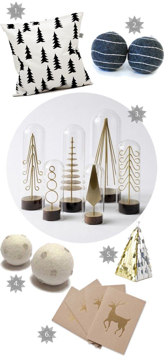 modern brass forest tree set of 6 by DwellStudio