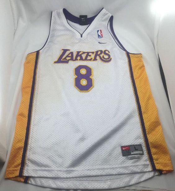 kqqhrb Nike Kid\'s Lakers Kobe Bryant Jersey 8 Basketball NBA Boy\'s Sz