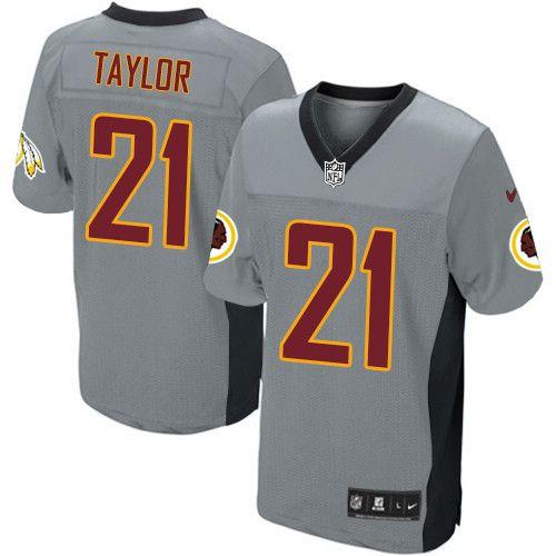 Sean Taylor Men's Elite Grey Shadow Jersey: Nike NFL Washington ...