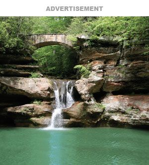 Ohio:  Hocking Hills - great trails and water features