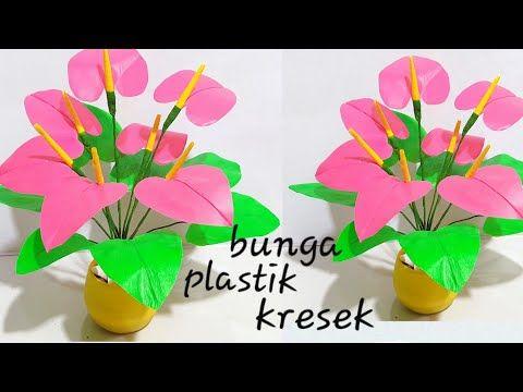 Bunga Plastik Kresek Hiasan Ruang Tamu Youtube Bunga Kertas