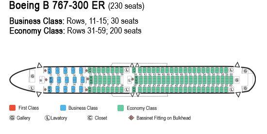 Boeing 767 300 Passenger Seat Map Brokeasshome Com