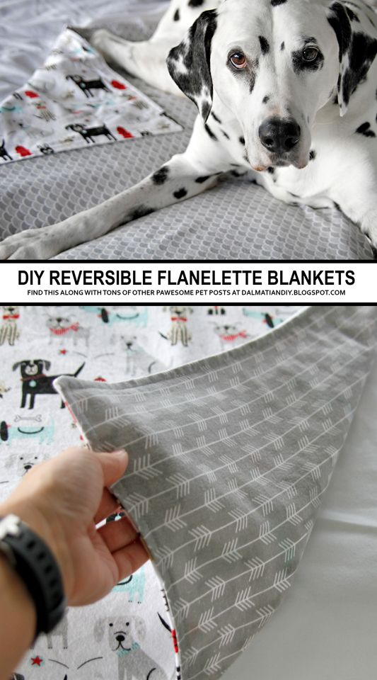 Diy Reversible Cotton Flannelette Absorbent Dog Blankets With