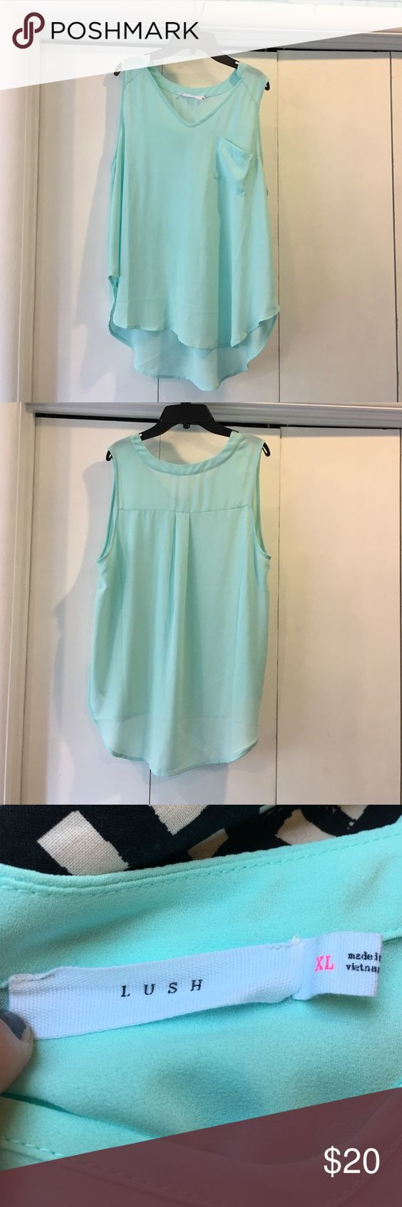 Mint tank top Mint tank top! Super cute with jeans!! In great shape, worn once! Make an offer! Lush Tops Tank Tops