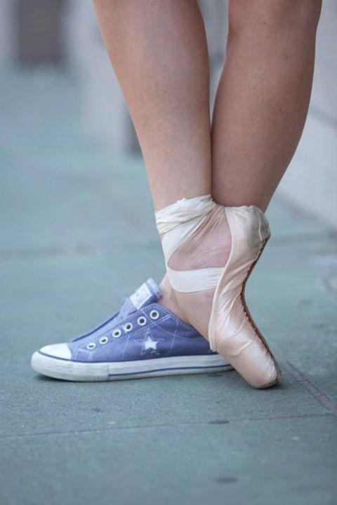 Converse ballet   Pointe shoes photography, Ballet dance ...