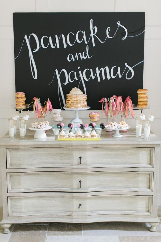 Pancakes and pajamas birthday party: http://www.stylemepretty.com/living/2016/09/01/pancakes-and-pajamas-a-k-a-the-best-sleepover-party-idea-ever/ Photography: Ruth Eileen - http://rutheileenphotography.com/: