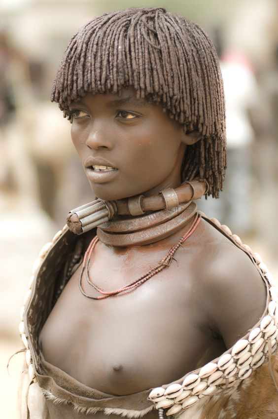 Beautiful Woman From Lower Omo Valley Neck Piece