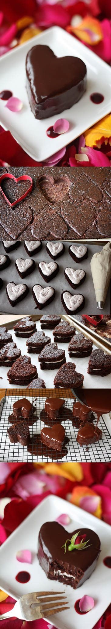 ideia dia dos namorados Chocolate Valentines Day Cake: