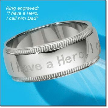 Stainless Steel Men's I Call Him Dad Ring Engraved
