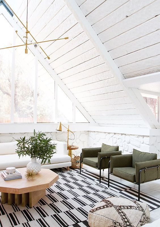 Mid-century, green on a coffee table | How to style a coffee table | image source: sarah sherman samuel