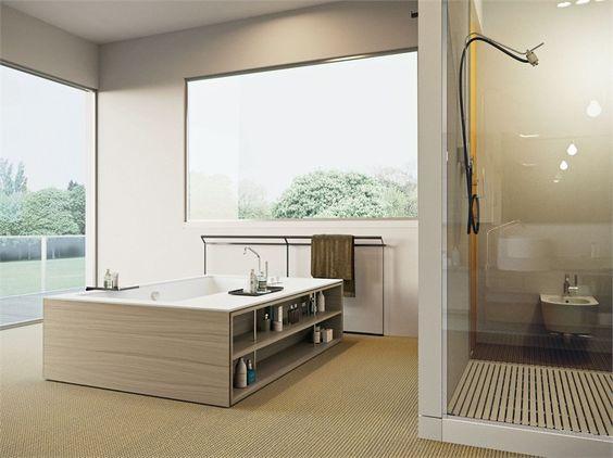 Freestanding whirlpool Corian® bathtub MY STYLE - MAKRO