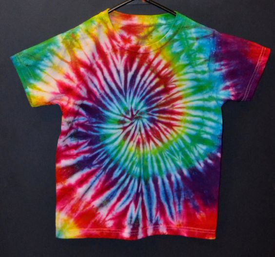 ONLY ONE LEFT GET IT WHILE THEY ARE STILL HERE!! :) Kids Tie Dye Medium TShirt Rainbow Swirl by TheTieDyedPanda, $14.00