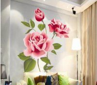 Rose Wall Decals to Decorate Your Bedroom | Easy Bedroom Decor