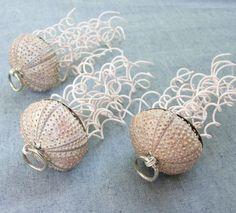 DIY Seashell Christmas Ornaments | Beach Decor Shell Christmas Ornaments - Nautical Sand Dollar…