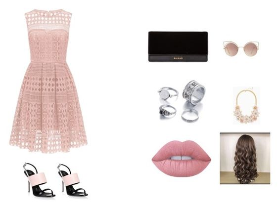 """pink cool"" by alihernandezhoyas ❤ liked on Polyvore featuring Giuseppe Zanotti, Balmain, MANGO and Lime Crime"