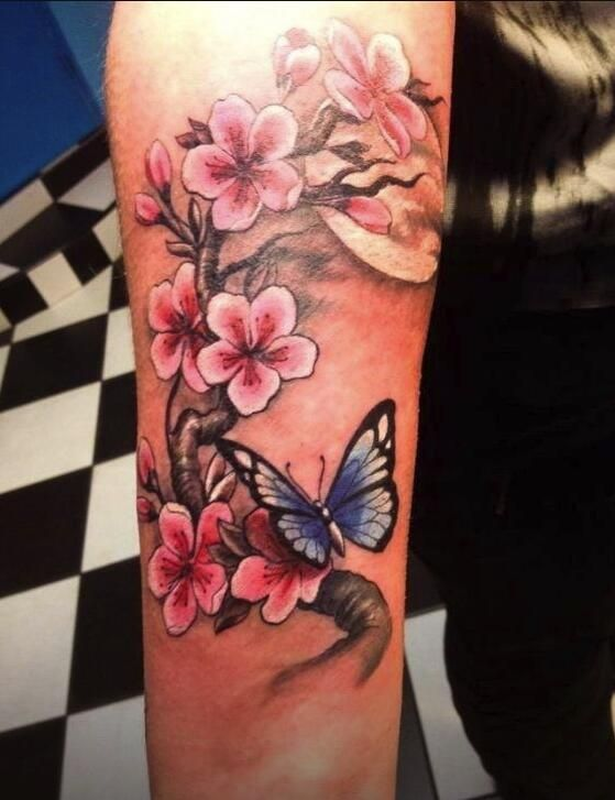 Flower Tattoos Tattoos Butterfly Tattoos On Arm Body Art Tattoos