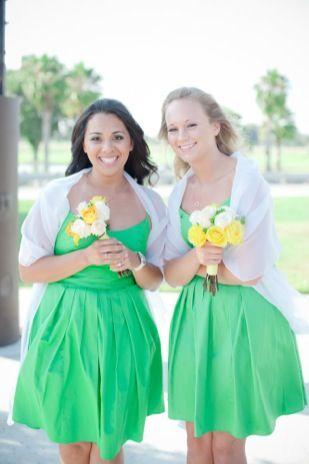 Fresh Green Wedding - photo by Marcella Treybig Photography - seen on YumYumWeddings.com :: Modern Wedding Inspiration