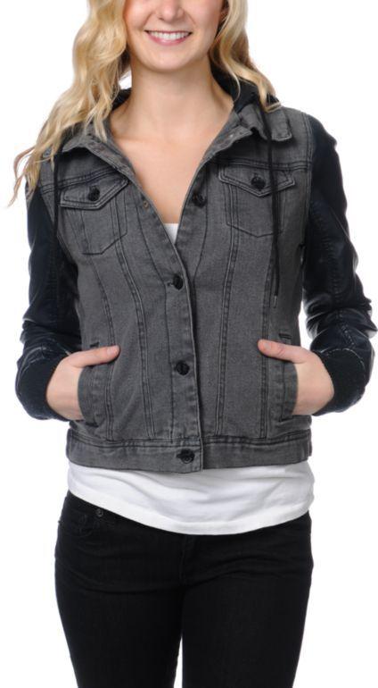 Girls Black Denim Jacket tNNpIF