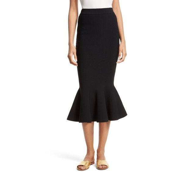 Women's Milly Mermaid Hem Midi Skirt ($350) ❤ liked on Polyvore ...