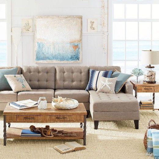 16 Neutral Coastal Living Room Designs Decor Ideas Taupe Sofa