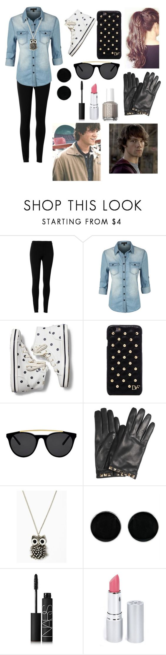 """""""Casual date with Sam Winchester ❤️❤️"""" by gglloyd ❤ liked on Polyvore featuring Max Studio, LE3NO, Keds, Diane Von Furstenberg, Smoke & Mirrors, Valentino, AeraVida, NARS Cosmetics, HoneyBee Gardens and Essie"""