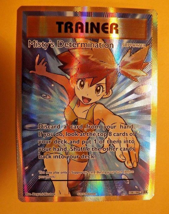 Misty/'s Determination 108//108 Evolutions Ultra Rare Pokemon Card NM Full Art