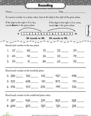 Printables Rounding Worksheets 3rd Grade math rounding and worksheets on pinterest lets go rounding