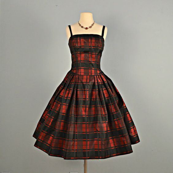 Vintage 1950s Prom Dress Beautiful Pat Hartly Black And