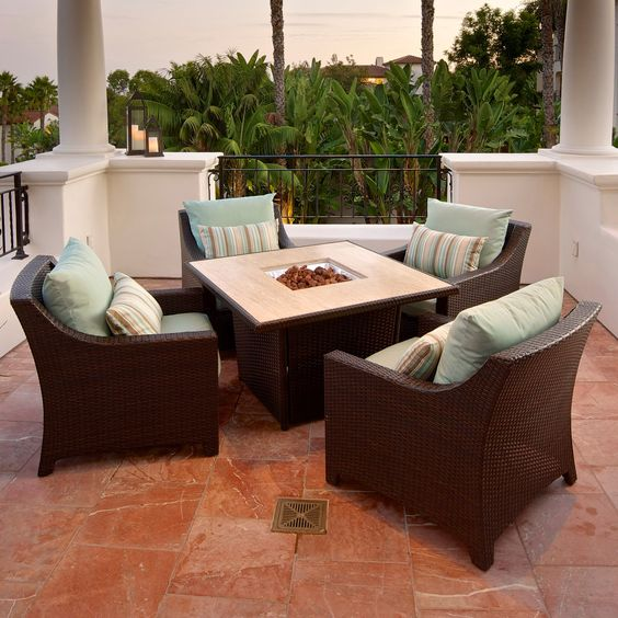 Have to have it. RST Outdoor Bliss 5 Piece Fire Table Seating Set $3699.99