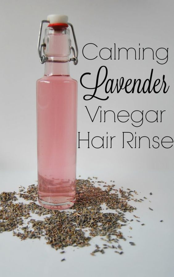Calming Lavender Vinegar Hair Rinse - 16oz vinegar:2tbs lavender, leave for 2 weeks in a dark room .