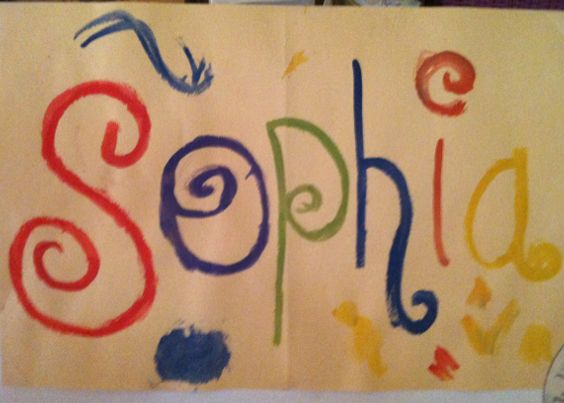 A drawing of her name, by Sophia, 3 years old • Art My Kid Made Artist of the day on Nov. 30, 2012.