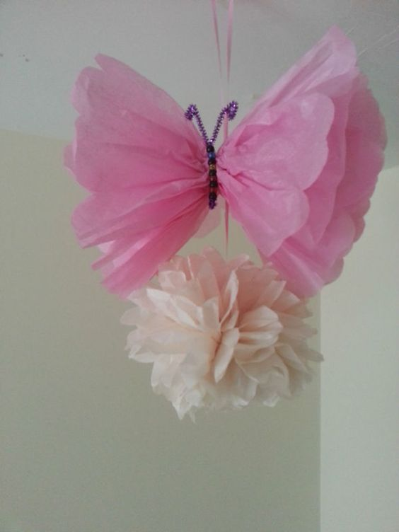 Details about wedding party baby shower butterfly for Baby shower decoration butterfly