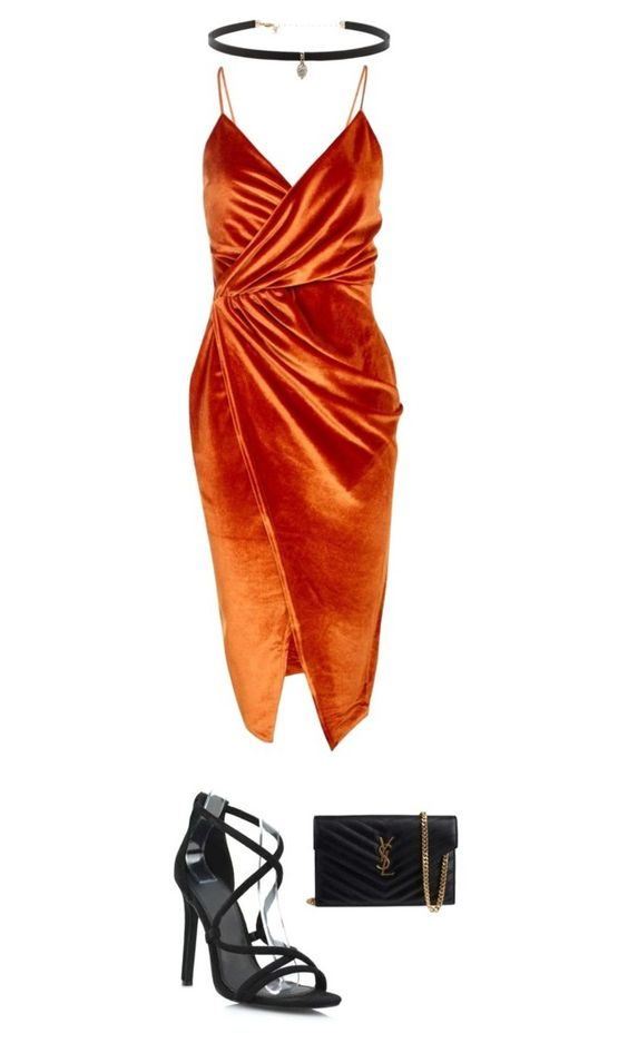 """""""Fire"""" by huldinhared on Polyvore featuring moda, Boohoo, Yves Saint Laurent e Carbon & Hyde"""