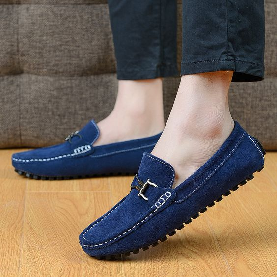 (Buy here: http://appdeal.ru/1pl7 ) Size 38~44 4 Color New Men Slips Suede Nubuck Leather Loafers Shoes Men Moccasins Creepers Ballerina Flats Ballet Shoes 2015 for just US $33.85