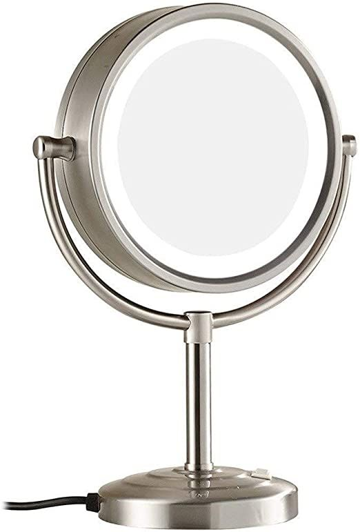 Zyl Yl Wall Mounted Makeup Mirror Desktop Led 8 5 Inch Cosmetic Mirror 7x Magnifying Mirror In 2020 Wall Mounted Makeup Mirror Makeup Mirror With Lights Makeup Mirror
