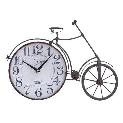 ABCHomeCollection Old Town Bicycle Wall Clock