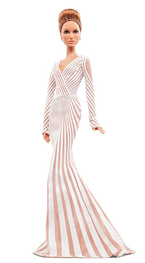 Mattel has introduced two Barbie dolls inspired by the Latina singer and actress, each modeled after a look worn by J.Lo in 2012. Description from fashionone.com. I searched for this on bing.com/images
