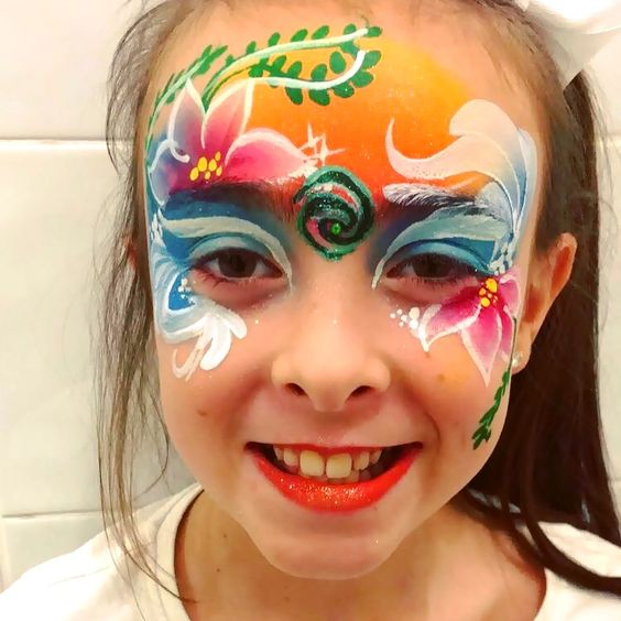 Moana inspired face painting
