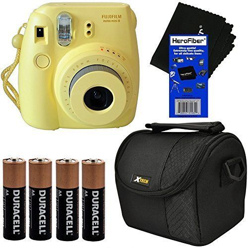 Fujifilm Instax Mini 8 Instant Film Camera Yellow Well Padded