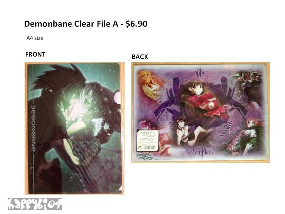 Demonbane Clear File   Anime Character Goods  A4 size