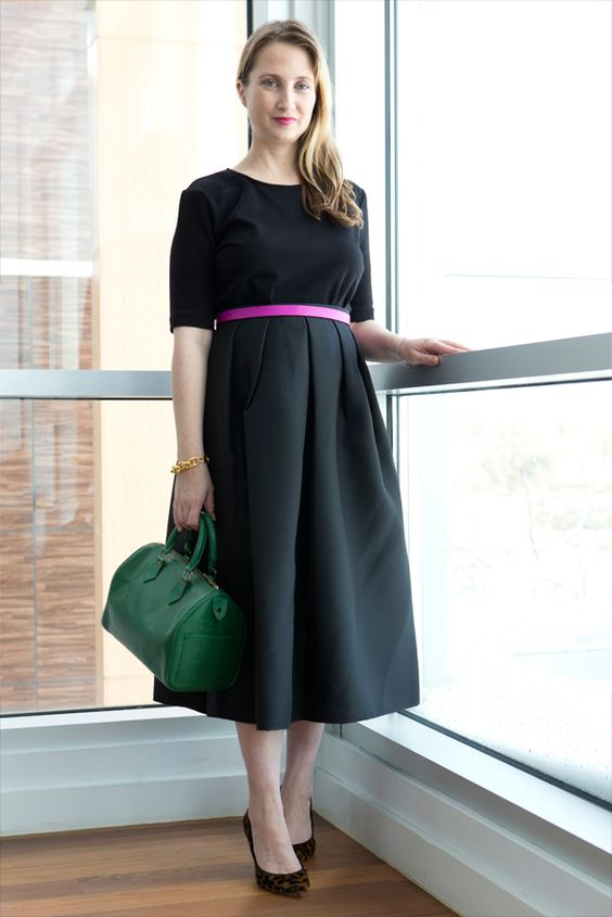 Our Fashion Director is testing out the tea-length skirt today at #NYFW.