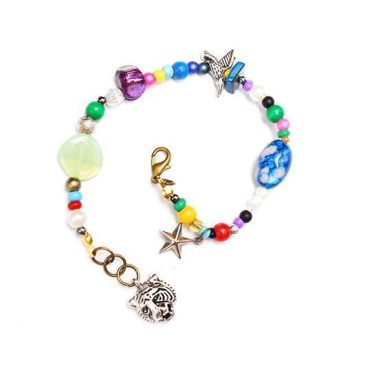 RandomJane made in Vienna colorful beaded hippie bracelet
