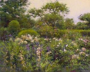 """June Garden Series I"" by JC Airoldi Pastel ~ 16 x 20"