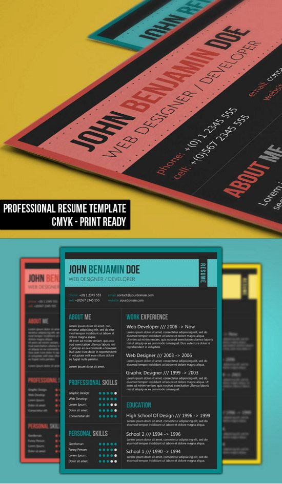Elegant 1 page CV template by Chic templates on @creativemarket - elegant resume templates