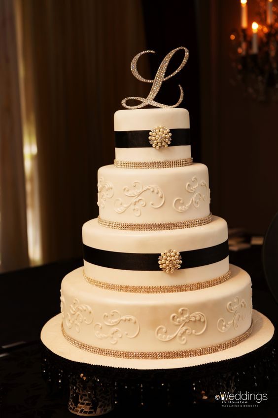 Gallery For Black Monogram Wedding Cake Toppers