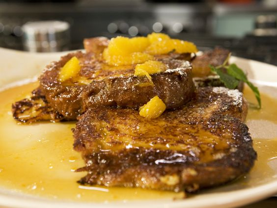 Brioche French Toast with Orange Marmalade Syrup from CookingChannelTV.com