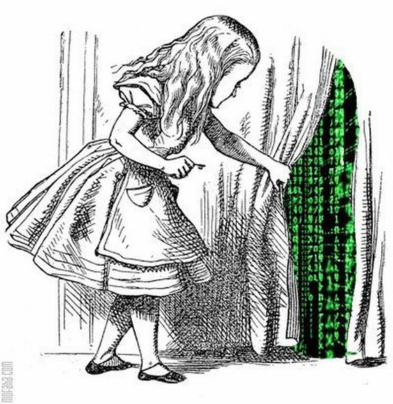 Curtains Ideas alice in wonderland curtains : Alice and The Matrix | Getting My Geek On | Pinterest | The fly ...