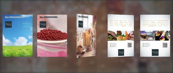 #Prodiris, c'est aussi le création graphique ! Exemple avec ces fiches pour Falcou Traiteur. Et pour en savoir plus : http://www.prodiris.fr/studio-creation-graphique-toulouse/